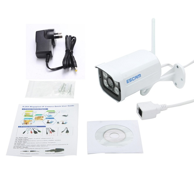 ESCAM QD900 WIFI IP Camera 2MP Full HD 1080P Network Infrared Bullet IP66 Onvif Outdoor Waterproof Wireless CCTV Camera