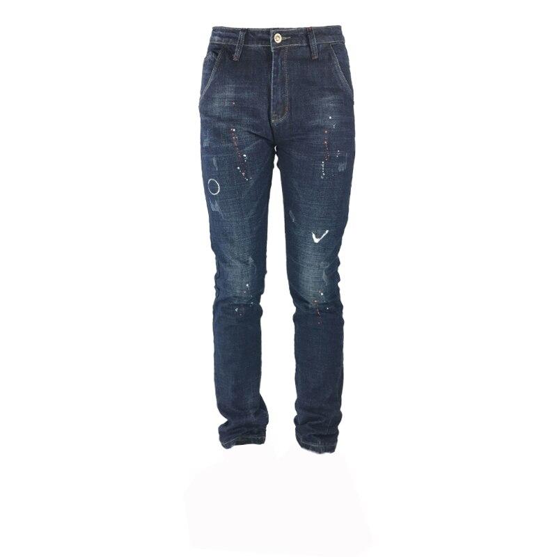 2019 Neue Männer Der Jeans Stretch Elastische Hosen Fit Denim Beiläufige Dünne Jeans Herren Marke Mode Tragen Farbe Blau 29-36