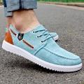 Zapatos de los hombres 2016 nueva moda colores mezclados los zapatos de lona de hombre zapatos casuales