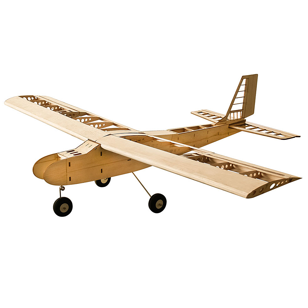 T4001 Balsa DIY Wood Airplanes 1550mm Wingspan Biplane RC Airplane  Aircraft Toys KIT Model
