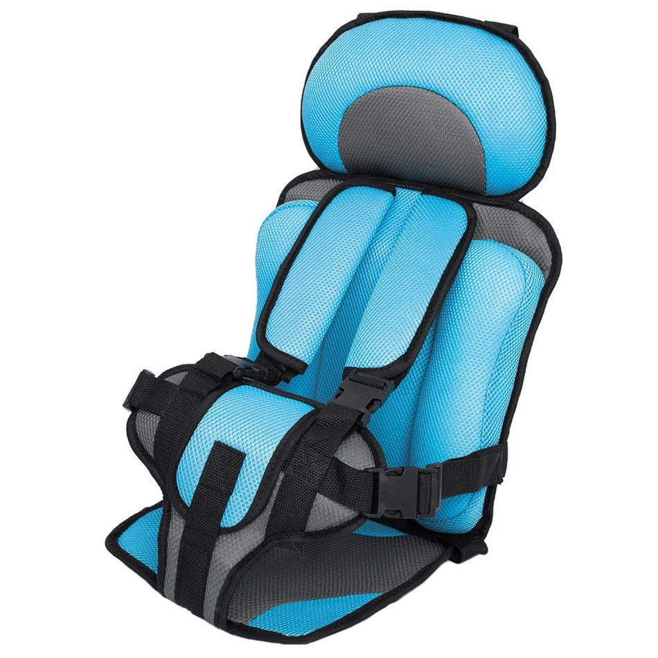 portable baby safety car seat kids chairs in car babies updated version thickening children infant cotton car seats light blue