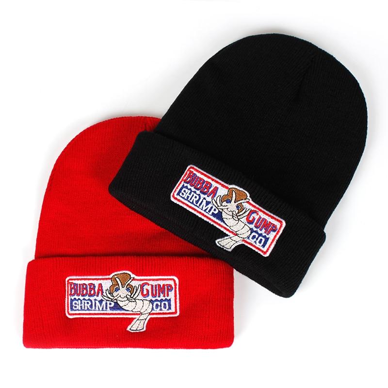 Forrest Gump winter hat Women Men BUBBA GUMP Warm autumn and winter Cotton Red   Beanies   Knitted Hip-hop   Skullies   cap Hats