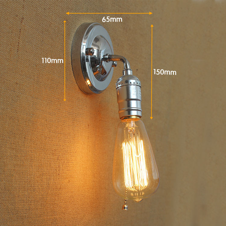 Buy Knob Switch Led Wall Light Warehouse Loft American Country Retro Bar Table Bathroom Light Industry Vintage Iron Small Wall Lamps From