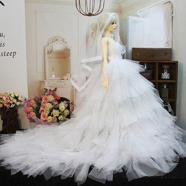 Wedding Dress Evening Dress Doll Accessories 1/3 1/4 BJD Doll Clothes Clothing Princess SD MSD BJD Clothes Toys For Girls 4