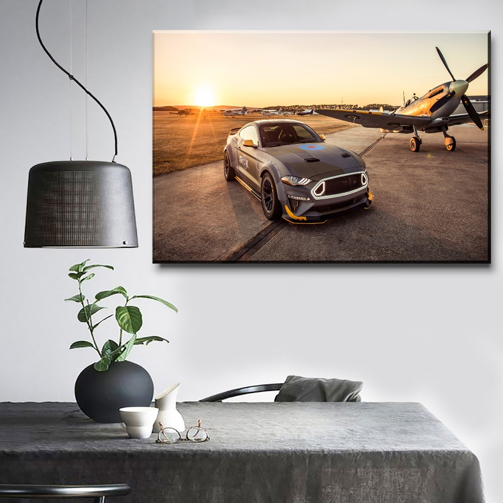 Us 356 48 Offhome Decoration Modern Artwork Painting 1 Panel Cars Ford Eagle Squadron Mustang Gt Picture For Living Room Canvas Print Poster In