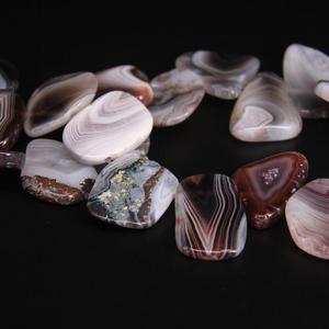 Image 2 - Około 19 sztuk/strand nawiercony u góry surowe Botswana agaty płyta kromka luźne koraliki, paski agaty Gems kamień Nugget wisiorek tworzenia biżuterii