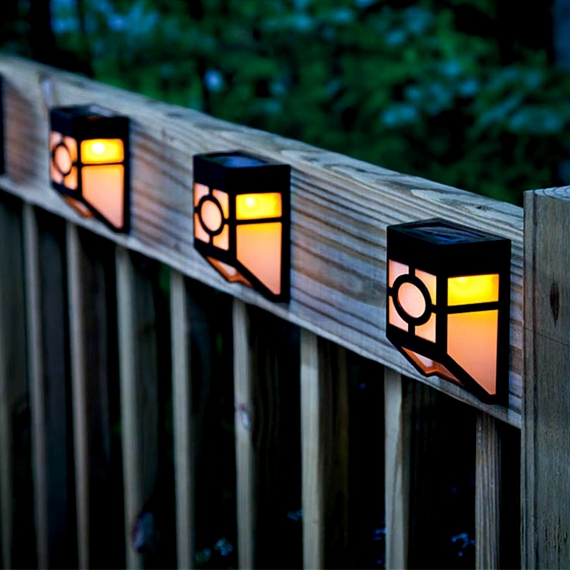 Garden Light Solar Outdoor Lighting Decoration Wall Lamp Courtyard European Style Street Lamps 2 LED