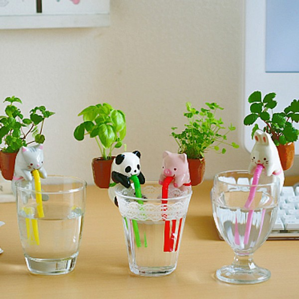Creative Self Watering Plant Holder Tail Planters Animal