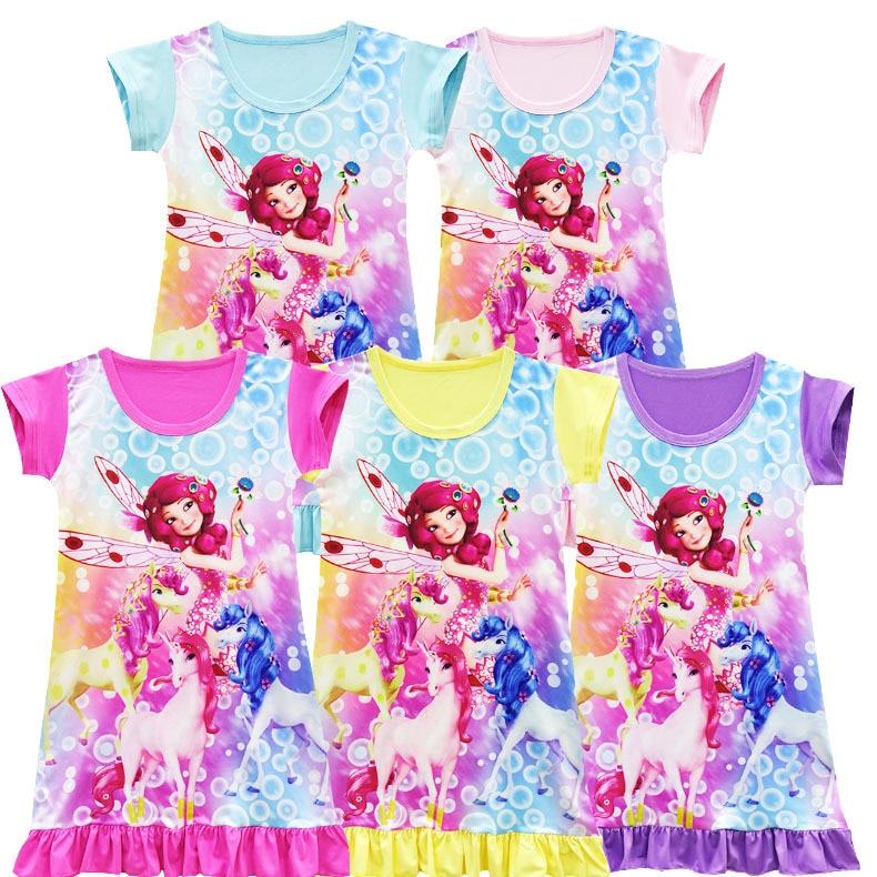 Crianças Mia e Me Roupas Vestido de Desenhos Animados Vestido de Princesa Vestidos de Meninas Natal Vestido Mia Unicórnio camisola da Menina