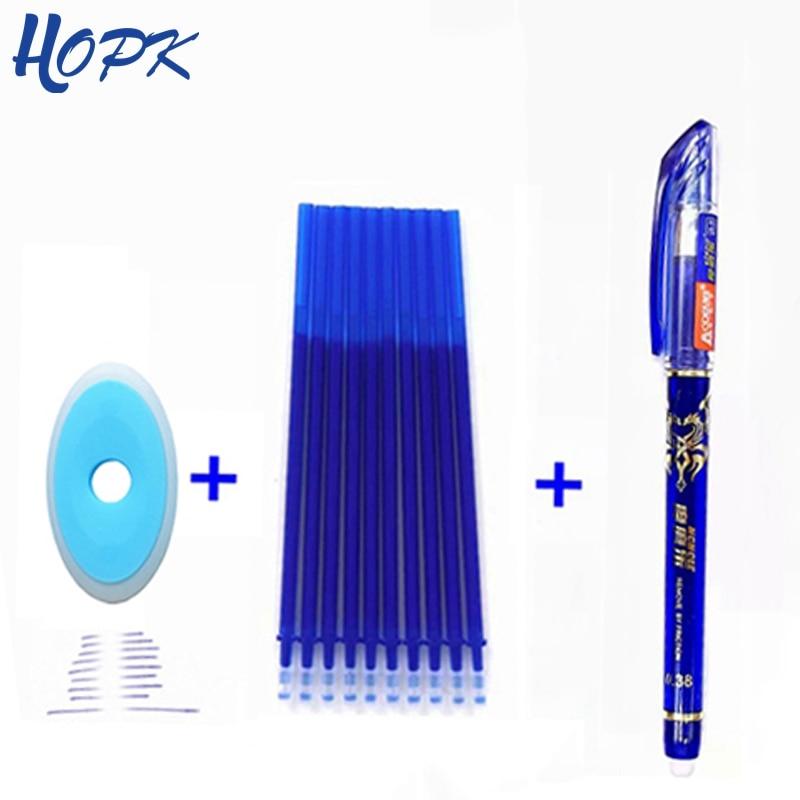 3/12Pcs/Set 0.38mm Erasable Pen Washable Handle Blue Black Erasable Ballpoint Pen Refill Rod School Office Writing Stationery