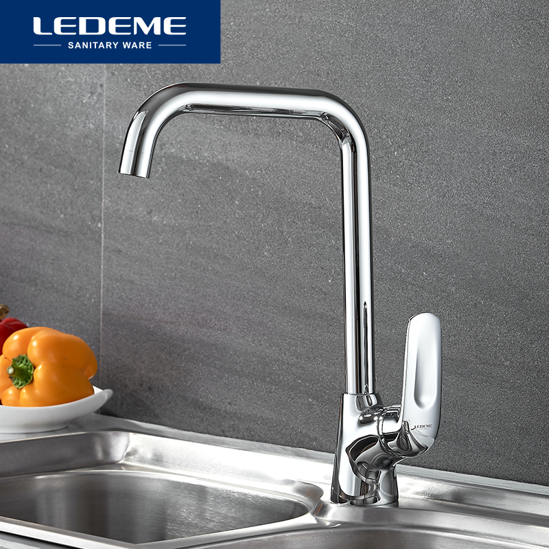 LEDEME Kitchen Faucet Single Handle Single Hole Pull Out Spray Kitchen Tap Kitchen Taps Water Tap Kitchen Sink Faucet L4048