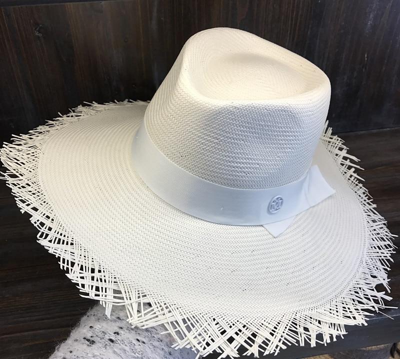 Filzhüte AnpassungsfäHig 01903-hqsw256002 Handgemachte Weiße Stroh Gestrickte Exquisite Überlegene Qualität Strand Filzhüte Kappe Männer Frauen Freizeit Panama Hut