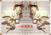 Подвесной Настенный акт роль ангела Купидона ангела Висячие Части ТВ стены ваза цветочный горшок стены действовать роль ofing крыльцо