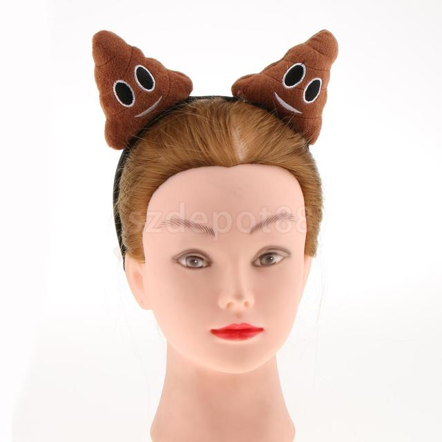 ce892224801 Funny Novelty Poo Birthday Headband Women Girls Emoticon Poop Fancy Dress  Party Head Bopper Joke Gift Headwear
