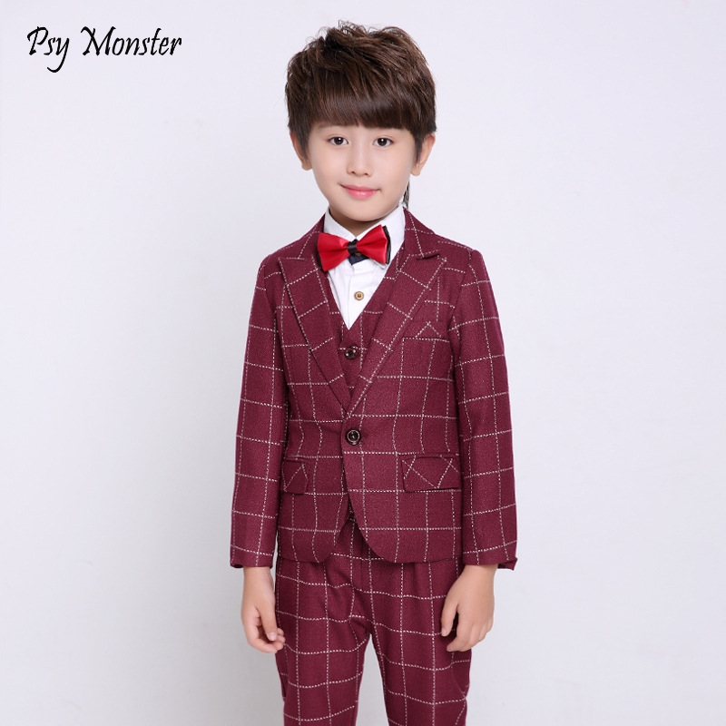2018 3PCS Jacket Vest Pants Kids Wedding Blazer Suit Brand Flower Boys Formal Tuxedos School Suit Kids Spring Clothing Set N55 living room chair art room stool retail and wholesale yellow black white free shipping balcony bar stool