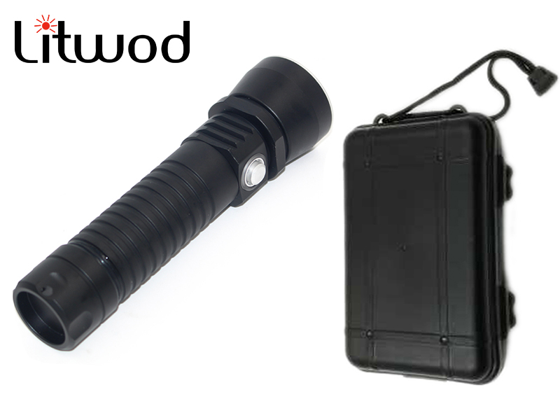 Litwod z30D26 Diving Led Flashlight Torch Light XM-L L2 ON / OFF Stepless Dimming Waterproof Underwater 150m Box underwater 100m 10000lm xm l 5l2 stepless dimming diving flashlight waterproof led dive torch light use 2x18650 battery