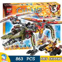 863pcs King Crominus Rescue Golden Lion 10358 Model Building Blocks Sets Kits Amazing Movie Toys Bricks Compatible with Lego