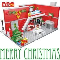 Creator Christmas Winter Technic LegoINGlys Carnival Night Party Model Plastic Building Blocks Toys for Children 875pcs