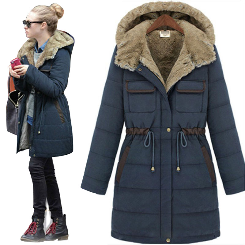 Women's Winter Jacket Women 2015 Cotton Padded Coat Female Long ...