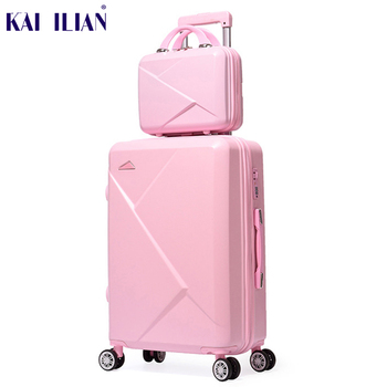 2pcs-set-14inch-cosmetic-bag-20-22-24-28-inches-girl-students-trolley-case-travel-spinner-luggage-rolling-suitcase-boarding-box