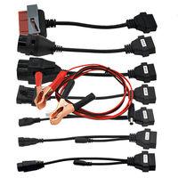 2pcs Of Car Cables Full Set 8pcs Auto Car Diagnostic Connector Adapter For TCS PLUS Pro