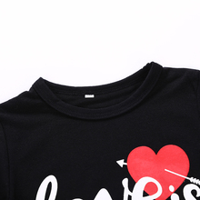 Love Is All You Need Letter Printed Mom and Kid Dress