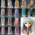 1pcs 15cm&25cm*100cm Doll Wigs BJD/SD doll hair DIY High-temperature Wire Many colors Roll inward hair Wigs