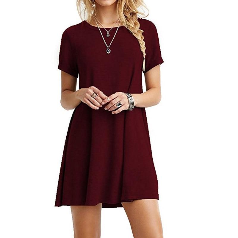 Cotton T Shirt Dress Summer 2018 Cute Comfortabl Fashion ...