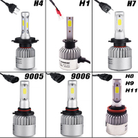 Car LED Headlights H4 H7 H1 H8 H9 H11 HB3 9005 HB4 9006 COB LED Car