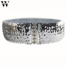 Модные Винтажные эластичные ремни с блестками для женщин, аксессуары для платьев ceinture femme Amazing JL 25