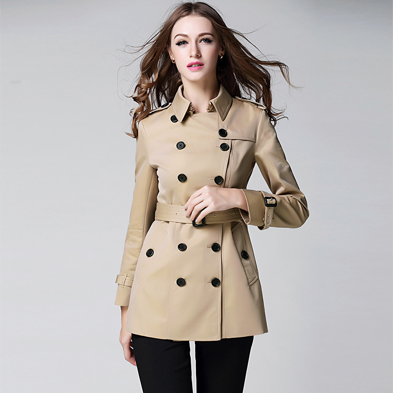 BURDULLY New Spring Autumn Casual Women Jacket Harajuku Straight In The Long Slim Windbreaker Jacket Coat ladies Outwear