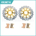 Nova Frente Discos De Freio Rotores + Pads Conjunto para Suzuki GSX-R GSXR 1000 2004 600 750 04 05 K4 K5 2005