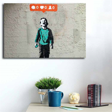 Banksy Nobody Likes Me Graffiti Wall Art Canvas Poster Print Painting Decorative Picture For Office Bedroom Home Decor HD