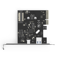 Practical Motherboard PCI E To USB 3.1 PCI Express Chipset High Speed Type C Dual Port Expansion Card Hub Adapter Computer
