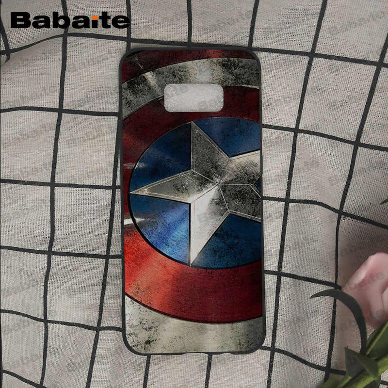 Babaite نقيب أمريكا درع أعجوبة غطاء أسود لينة قذيفة الهاتف حقيبة لهاتف سامسونج غالاكسي s9 s8 زائد ملاحظة 8 note9 s7 s6 حالات