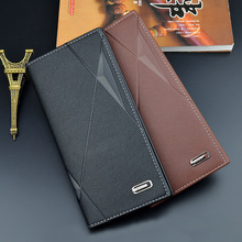 New Long Style Men Wallet Soft Leather With Card Slot