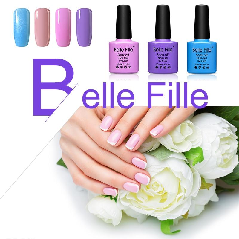 Gel Nail Polish Light Pink: Aliexpress.com : Buy Belle Fille 10ml Gel Nail Polish
