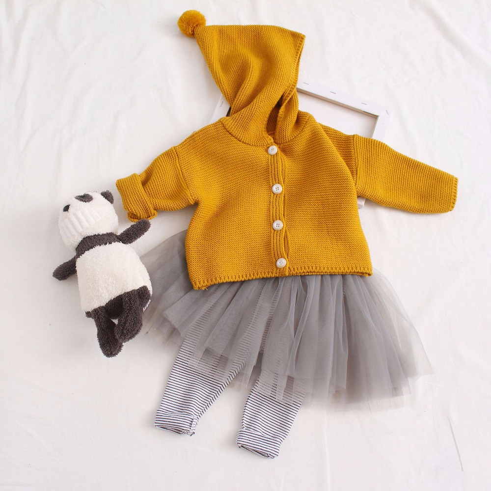 f0213d5d2665 2018 Baby Girl Sweater Kids Hooded Cardigan Spring Sweaters Children ...