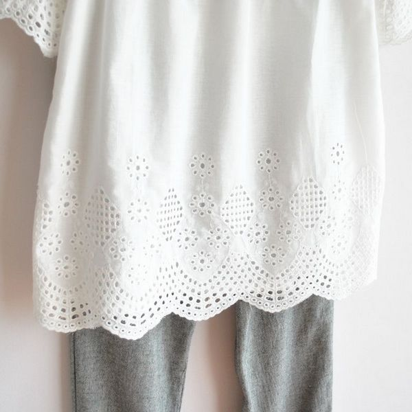 Aliexpress Buy Vintage 70s Sheer Crochet Cut Out Embroidery