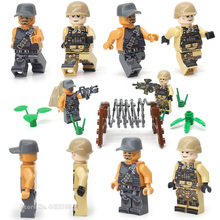 Legoinglys Military Figures Army Instructor Soldier Building Blocks Mini Special Forces Set Assemble Model Moc Gift For Boy Toys