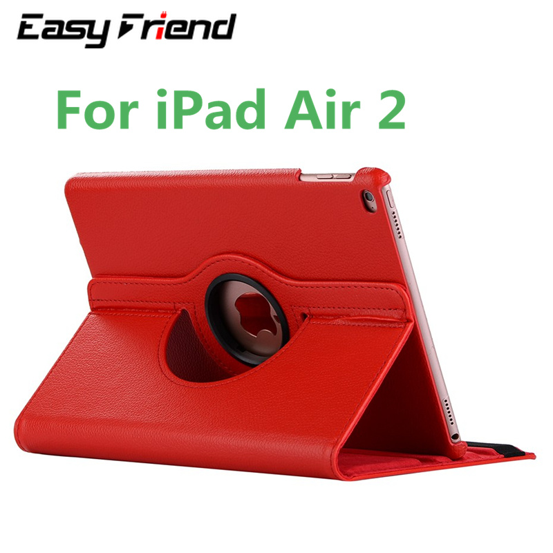 Tablet Case For Apple iPad Air 2 9.7 inch iPad 6 iPad6 Air2 iPadAir2 360 Rotating Bracket Flip Stand Leather Cover