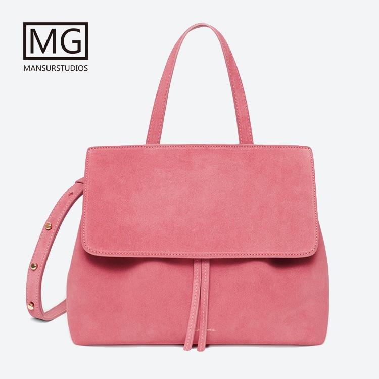 Newest Mansurstudios Women Faux Suede Lady Bag ,mansur Lady Leather Suede Shoulder Bags, Garviel Suede Tote Bag,free Shipping