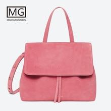 ab90e904fe5f Новейшая женская сумка из искусственной замши Mansurstudios, женские  Кожаные Замшевые сумки на плечо mansur,