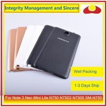 Оригинальный Корпус для Samsung Galaxy Note 3 Neo Mini Lite N750 N7502 N7505, Задняя Крышка аккумуляторной батареи, Корпус Корпуса, корпус