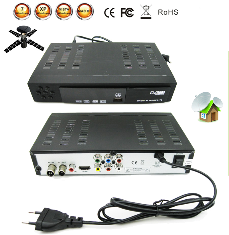 Digital Terrestrial Satellite TV Receiver Combo dvb t2 HD 1080P dvb-t2 tv Box H.264 / MPEG-2/4 for Russia Europe DVB-T2 Singnal dm04 satellite digital tv mediator dm04 dvb receiver