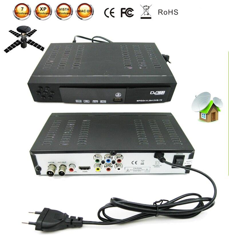 Récepteur de télévision par Satellite numérique terrestre combiné dvb t2 HD 1080P dvb-t2 boîtier de télévision H.264/MPEG-2/4 pour la russie Europe DVB-T2 unique