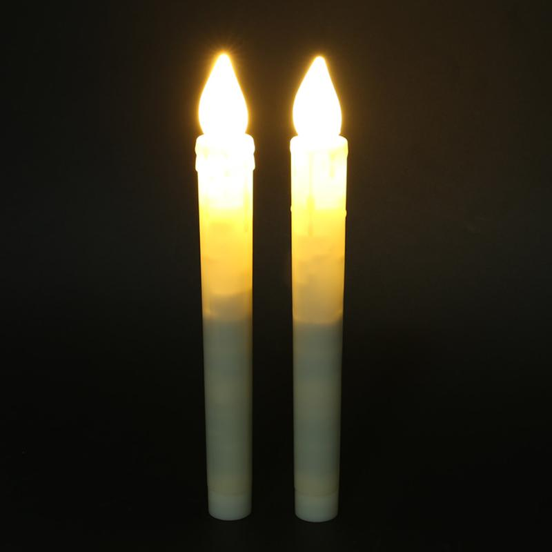 2pcs/set Flameless LED Candle Flickering Light Candle Lamp Festival Party Birthday Wedding Home Candles