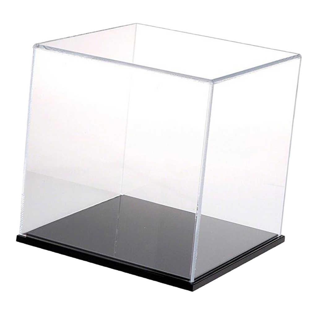 Акриловый дисплей шоубокс чехол куб игрушка пылезащитный поддон Защита Коробка для демонстрации 18x18x18 см для детские игрушки; конструктор дисплей