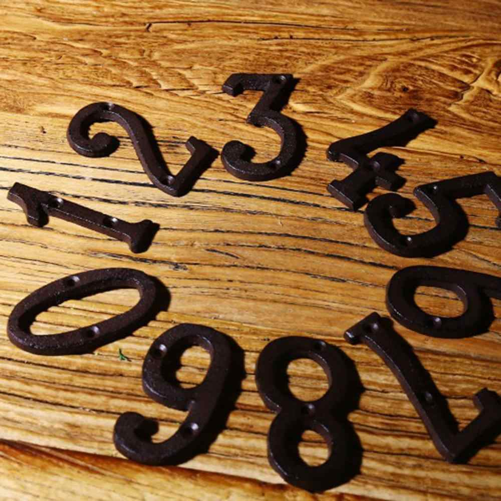 2019 Durable Metal Letters Numbers Cast Iron Decoration