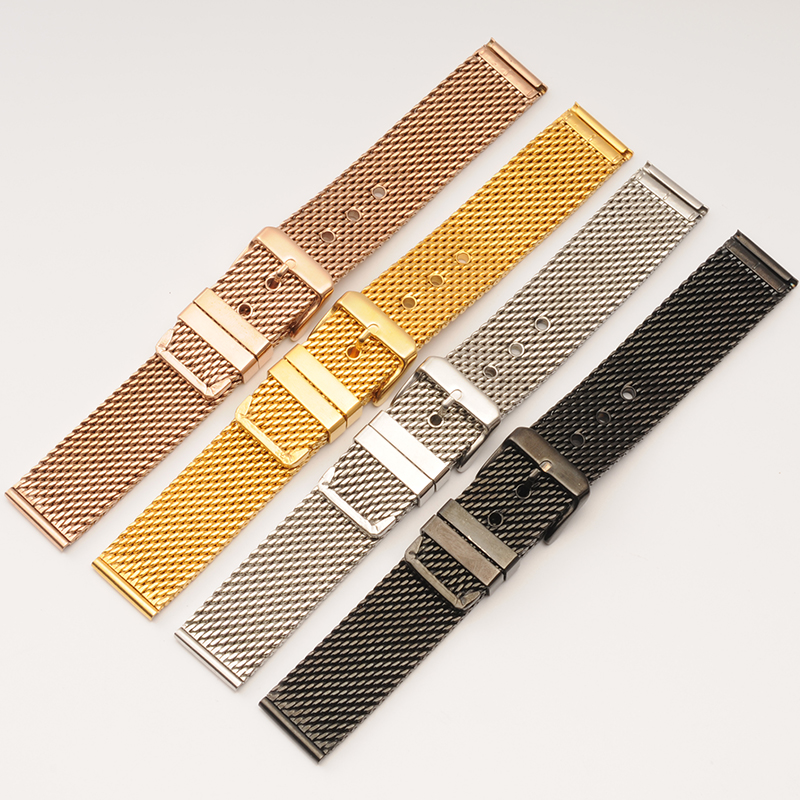 Men Stainless Metal Watch Band 18mm 20mm 22mm 24mm Braided Steel Wrist Band Straps Bracelets Women Cinturino Metallo Masculino 20mm 22mm 24mm men solid stainless steel watch band metal bracelets strap wrist watches replacement for men s women s wristwatch